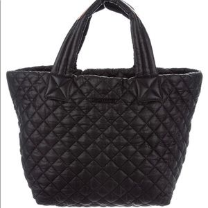 MZ Wallace  metro Black nylon quilted tote bag